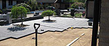 halmstad trädgårdsanläggning stenläggning i trädgård