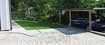 halmstad trädgårdsanläggning plattläggning