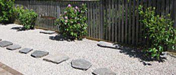 halmstad trädgårdsanläggning stenläggning